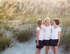 Photographs/Portfolio, Family portrait, Mother-Daughter portrait, Beach portrait, Hilton Head Island SC