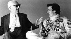 Una foto storica che ritrae Enzo Ferrari e Gilles Villeneuve mentre ridono di gusto