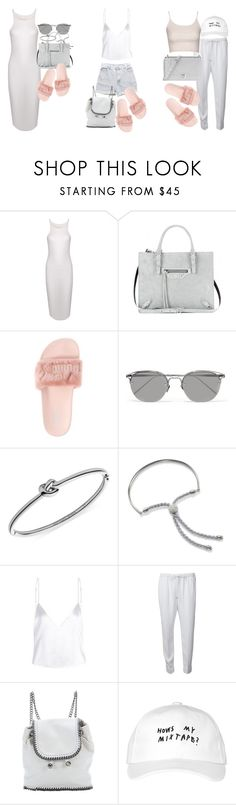 """How to style / pink Fenty slides"" by florencia95 ❤ liked on Polyvore featuring Theory, Balenciaga, Puma, Linda Farrow, Michael Kors, Monica Vinader, Alexander Wang, Levi's, STELLA McCARTNEY and October's Very Own"