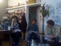 L-R: Sarah Feuquay, Georgia Elrod, Mike Smith, Owen Hope