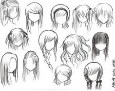 How to draw anime girl hairstyles. How to draw anime girl hairstyles step by step. How to draw anime girl hairstyles. How to draw cute anime girl hairstyles. How to draw anime girl hairstyles ponytail. Drawing Techniques, Drawing Tips, Drawing Reference, Drawing Sketches, Drawing Tutorials, Drawing Ideas, Hair Reference, Sketching, Sketches Tutorial
