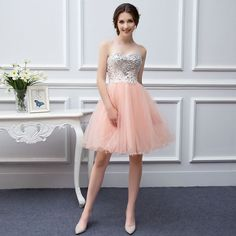 Cheap coral prom dress, Buy Quality prom dresses directly from China short prom dresses Suppliers: Real Picture Stuning Beaded Short Strapless Dress Color Tulle Coral Prom Dress Peach Prom Gown Cheap Flower Short Prom Dress Peach Prom Dresses, Cheap Short Prom Dresses, Coral Bridesmaid Dresses, Cheap Gowns, Prom Dresses 2017, Party Gowns, Wedding Party Dresses, Champagne Bridesmaids, Maid Of Honour Dresses