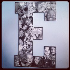 Custom Photo Collages on wooden letters! Choose from 9 inch or  13 inch letters! Display your memories or give a thoughtful gift! on Etsy, $29.99  Letter E collage 13 inch