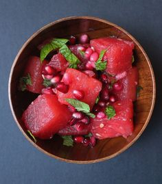 Watermelon, Pomegranate, Mint and Lime Summer Salad