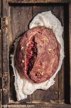 Beetroot & Honey Bread / Beets, Walnut & Whole Wheat Bread Recipe, a simple yet aromatic Beets Bread, with a mild touch of honey and walnuts to give sweet and crunchy taste. I have also added nutmeg powder to give nice aroma.
