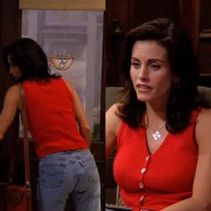 monica geller's style Monica Friends, Rachel Green Friends, Nba Fashion, 90s Fashion Grunge, 90s Grunge, Runway Fashion, Fashion Trends, 90s Party Outfit, 90s Outfit