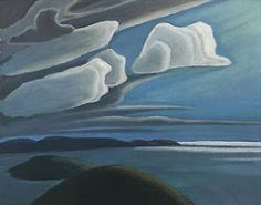 Lawren Harris - Lake Superior, Sketch III - Group of Seven Group Of Seven Art, Group Of Seven Paintings, Emily Carr, Canadian Painters, Canadian Artists, Abstract Landscape, Landscape Paintings, Lauren Harris, Tom Thomson Paintings