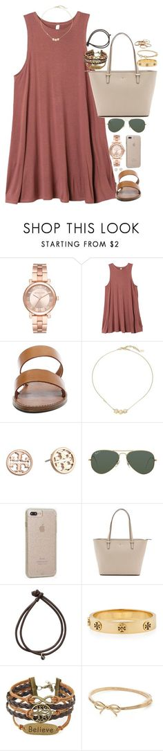 """Gold"" by southernstruttin ❤ liked on Polyvore featuring Michael Kors, RVCA, Steve Madden, Cole Haan, Tory Burch, Ray-Ban, Case-Mate, Kate Spade, mizuki and Kendra Scott"