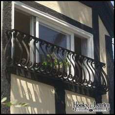 Sevilla Iron Faux Balconies  Wrought iron exterior window grate grill