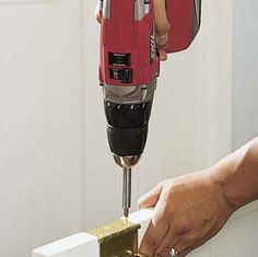 How to avoid stripping a screw with a hand drill.and 47 other tips from This Old House