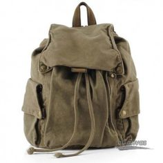 Fashion canvas backpack, casual bag for women, 3 colors