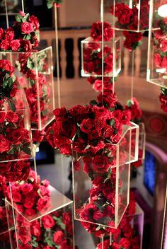 San Diego Museum of Art Wedding Stage Decorations, Flower Decorations, Wedding Centerpieces, Decoration Evenementielle, Red Rose Wedding, Event Decor, Wedding Designs, Floral Arrangements, Beautiful Flowers