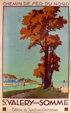 St Valery Sur Somme France, 1920s - original vintage poster by Pierre Commarmond listed on AntikBar.co.uk