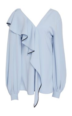 Ruffled Crepe Blouse by ADEAM Now Available on Moda Operandi