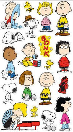 Peanuts Gang CLASSIC Sticker Sheet For by LaPetiteFeuille on Etsy, $1.29