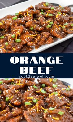 This orange beef is a take-out classic that's quick and easy to make at home. It's made with thinly sliced beef and a simple, sweet and tangy orange sauce. Asian Recipes, Beef Recipes, Healthy Recipes, Orange Beef, Cooking For Beginners, Low Sodium Soy Sauce, Easy Family Dinners, Fusion Food, Winter Food