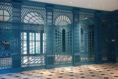 Amazing lattice illusion in teal and mirror #lattice