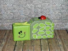 Painted Brick Paver Pals by WoodWinkles.deviantart.com