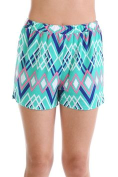 *** Beachside Ethnic Shorts *** Beachside Ethnic Shorts, printed shorts with elastic fit waistband. Lined