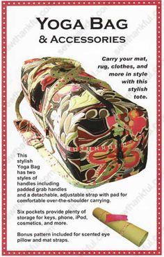 Free Easy yoga Patterns | Yoga Girl Bag Carries Exercise Mat Sewing Pattern | eBay
