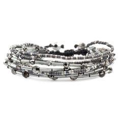 Chan Luu - Silver Night Mix Multi Strand Bracelet, $105.00 (http://www.chanluu.com/bracelets/silver-night-mix-multi-strand-bracelet/)