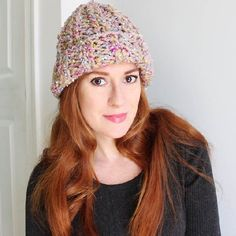 Beginner knitting pattern shows you how to create this fast & easy ribbed hat.