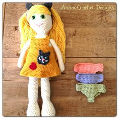 Annoo's Crochet World: Abigail,'s Draw me a Doll Pattern
