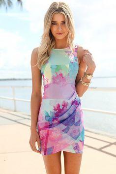 colourful mini dress
