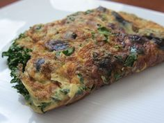 Blueberry Kale (or Spinach) Omelette
