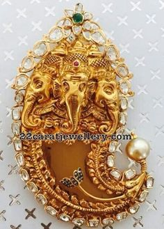 Tiger Claw Pendant with Ganesh - Jewellery Designs