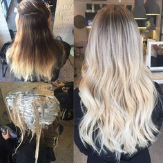 High Ash Blonde Balayage | TRANSFORMATION: High-Maintenance to Dimensional, Rooty Ash-Blonde ...