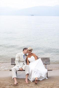 Amazing beach wedding photo. [ Waterbabiesbikini.com ] #beach #bikini #elegance