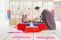 traditional korean tradition honoring the groom's family (pye baek, 폐백)