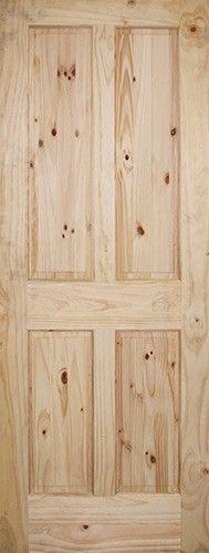 6 8 Knotty Pine Interior Slab 4 Panel Unfinished Wood Door Slabs