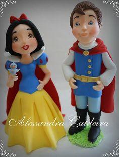 Snow White & Prince | Alessandro Caldeira | Gumpaste Figures