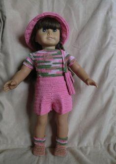 PDF Crochet Pattern  155 Pink Camo Shorts Set    for 18 Inch Dolls. $3.00, via Etsy.