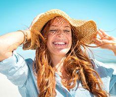 School Bag Storage, Make A Tie, Cute Flip Flops, Woman Smile, Enjoying The Sun, Happy Women, Mermaid Hair, Clip In Hair Extensions, Skin Care Regimen