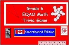Grade 6 EQAO Math Trivia Game Grade 6 Math, Sixth Grade, Grade 3, School Resources, Math Resources, Tech Websites, Ontario Curriculum, Game Data, Smart Board Activities