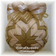 Sugar & Spice Quilted Ornament