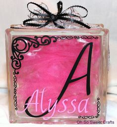 Glass Block Night Light or Mantel Piece by OhSoSweetCrafts on Etsy, $25.99