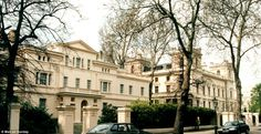 Streets apart: The palatial multi-million-pound mansions in Kensington Palace Gardens are a world away from the namesake street in Liverpool where homes sell for just £1