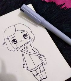 Girly Drawings, Easy Drawings, Doodle Art Drawing, Drawing Sketches, Coraline, Youtube Drawing, Cute Girl Drawing, Sketchbook Inspiration, Drawing Lessons