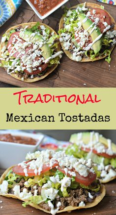 Traditional Mexican Tostadas Recipe For Your Next Fiesta - The Best Authentic Mexican Recipes Mexican Tostadas, Ceviche Mexican, Mexican Salsa, Mexican Chicken Tacos, Mexican Meat, Mexican Crema, Mexican Stuff, Mexican Shrimp, Mexican Pizza