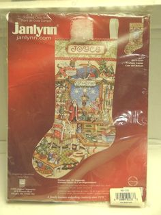 """Janlynn - Counted Cross Stitch - CRAFTERS CORNER  Christmas Stocking - 18"""" - NEW #Janlynn #FeltApplique"""