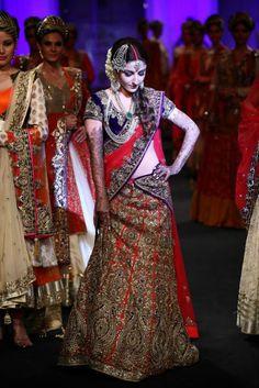 Lakme Fashion Week 2013 Bridal Wear  by vikram phandis