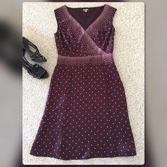 "Ann Taylor Dress Ann Taylor silk dress. Fully lined. Side zipper. Dress-100% silk Liner-100% polyester. Size: 8 Length: from center back - 40"" Ann Taylor Dresses Midi"