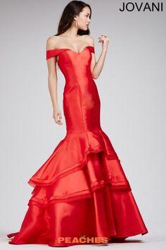 Jovani Layered Skirt Mermaid Dress 31100