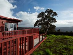 A great view with this stay on the Big Island of Hawaii...Volcano House Exterior Balcony http://lighthousetravelandtours.com/contact.html Image courtesy of hotel website