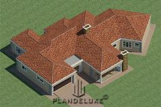 5 Bedroom Single Story House floor Plan Design_Plandeluxe__1 story house design_04