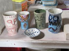 Commission for Papa Gedes Pottery Sculpture, Mugs, Tableware, Dinnerware, Tumblers, Tablewares, Mug, Dishes, Place Settings